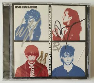 """Inhaler """"it won't always be like this"""" CD Signed. New and Sealed"""