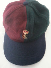 Vintage Polo Ralph Lauren Cap Crest two tone hat USA red green 70 wool 30 nylon