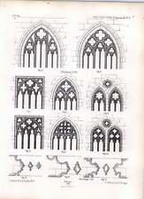 Gothic Ratisbon Lower Window Of Choir Mouldings Apse Aisle