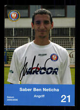 Saber Ben Neticha Autogrammkarte 1 FC Eschborn 2005-06 Original Signier+A 139688
