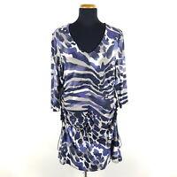 Airfield Kleid Damen Gr. DE 40 Mehrfarbig Jerseykleid Drapiert Viskose Stretch
