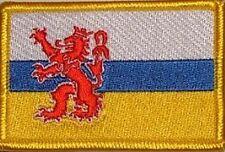 Aufnäher Limburg Niederlande Fahne Flagge Aufbügler Patch 8 x 5 cm