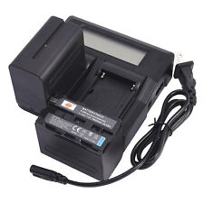 DSTE 2pcs NP-F970 With Dual Battery Charger for Sony CCD-TR200 DSR200 YN160 III