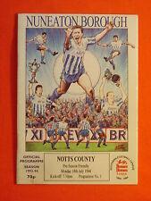 Nuneaton Borough v Notts County, Friendly  18th July 1994
