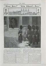 1902 PRINT CHANGE IN ANCIENT CEREMONY OF LOCKING UP TOWER OF LONDON