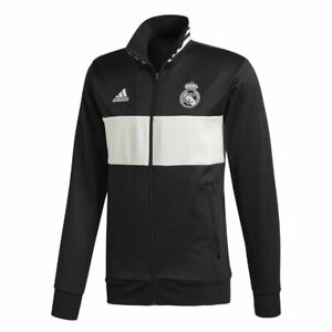 Adidas Real Madrid 3S Track Top for Men Full Zip Jacket Sport Football Gym New