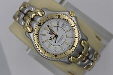 Tag Heuer Watch Mens SEL SS WG1122 Link S/EL 2-TONE GOLD WHITE Professional