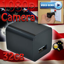 1080p USB Spy Camera 32gb UX-6 ScoutOut DVR GENUINE Charger Surveillance CIA FBI