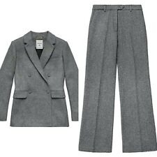 2017 ERDEM x H&M Gray Wool Blend Jacket & Pants  2 pc Suit - US 2 MINT!