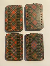 Antique Set of Four Tartan Ware Score Boards