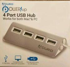 Aduro 4-Port USB 2.0 Hub Port Replicator für Mac und PC, PW-4HUB07