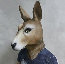 Kangaroo Wallaby Latex Mask Deluxe Australia Floyd Animal Mask Fancy Dress Masks