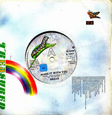 BREAD-MAKE IT WITH YOU + EVERYTHING I OWN SINGLE VINILO 1972 (UK) GOOD COVER