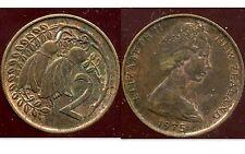 NOUVELLE ZELANDE 2 cents  1975