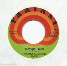 CCR * 45 * Travelin' Band / Who'll Stop The Rain * 1970 #2 * USA ORIGNAL FANTASY