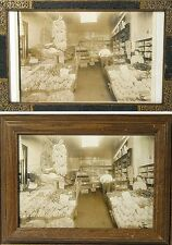 PRODUCE GROCERY STORE, INTERIOR, WITH SHOP KEEPER, SET OF 2, VINTAGE PRINTS