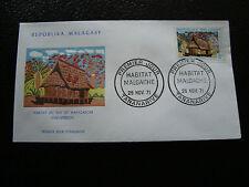 MADAGASCAR - enveloppe 25/11/71 - habitat sud antandry - yt n° 494 - (cy4) (Z)
