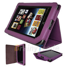 PU Leather Cover Case Stand Holder for Barnes & Noble Nook Tablet Color Purple