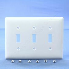 Hubbell White 3G Unbreakable Mid-Size Toggle Switch Cover Nylon Wallplate NPJ3W