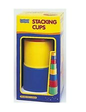 Megcos Favorite Colors STACKING & NESTING Cups 8pc ~NEW~