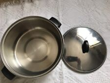 Vintage Ekco 3 Ply Stainless Steel 4 1/2 QT Quart Saucepan with lid USA Soup