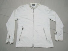 WHITE COMME CA ISM JACKET SIZE M WOMEN 100% COTTON SOLID