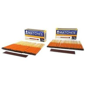 NEW UCO Stormproof Matches 50-Pack w/Strikers Windproof Waterproof Survival Gear