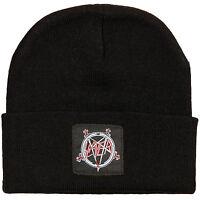 New Slayer Band Embroidered Pentagram Logo Heavy Metal Beanie Hat badhabitmerch