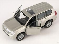 BLITZ VERSAND Toyota Land Cruiser Prado champagner Welly Modell Auto 1:34 NEU OV