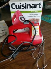 Cuisinart CHM-3R PowerSelect 3 Speed Hand Mixer - Red 220 Watts Of Power used