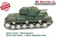 Heng Long Radio Remote Control RC Russian KV1 Tank PRO with Metal Road Wheels !