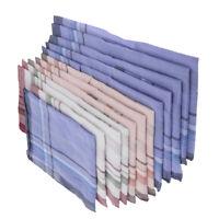 Una dozzina di fazzoletti di cotone morbido Pocket Square Vintage Check