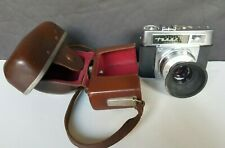 Vintage Zeiss Ikon Tenax 35mm Camera With Leather Case Made In Germany