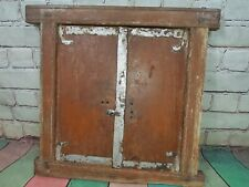 Vintage Old Indian Wooden Window Frame Shutter Wall Mirror Rustic Bathroom