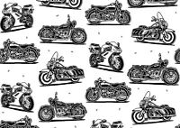 Cool Pattern Motorbikes Poster Size A4 / A3 Motorcycle Travel Poster Gift #8449