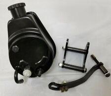 BLACK Saginaw Power A-Can Steering Pump Key Way & Mounting Bracket Chevy GM SBC