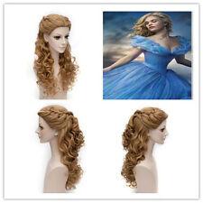 2018 NWT Movie Cinderella Princess Long Wavy Synthetic Anime Cosplay Hair Wig