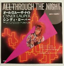 "Cyndi Lauper All Throught the Night Single 7"" Japon 1983 affiche exclusif"