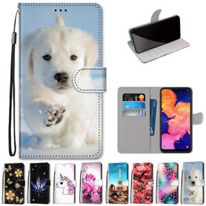 For Samsung Galaxy A10 A20S 20E A5 Case Pattern Wallet Leather Shockproof Cover