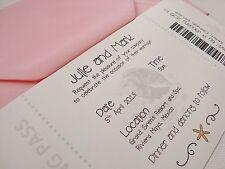 Personalised Boarding Pass Wedding Invitation Sample
