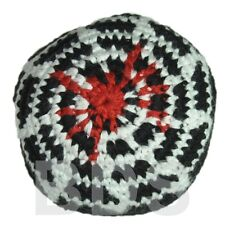 Spider Web Stripes Red White Black Guatemalan Footbag Hacky Sack New HS10