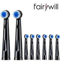 Fairywill 8X Round Brush Heads Fit for Rotating Electric Toothbrush FW-2205 2209