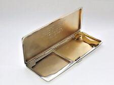 RARE ART DECO SOLID SILVER STERLING COMBINATION CIGARETTE & VESTA CASE BHAM 1934