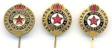 FOOTBALL - SOCCER Club PARTIZAN - BELGRADE set of 3 different pin badges some RR