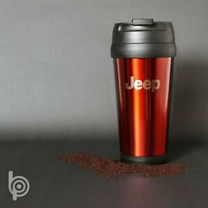 STAINLESS STEEL TRAVEL MUG NO HANDLE 16 OZ JEEP OR JEEP GRILL