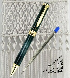 FREE SHIP Cotyer V8 HQ Ball point pen Black/w GREY + PARKER refill BLUE ink
