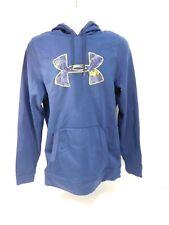 Under Armour Loose Blue & Yellow Hoodie Sweatshirt Top Mens Medium