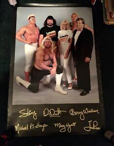 UWF NWA Jim Crockett Wrestling Love's Truck Stop Poster Sting SUPER RARE WWF