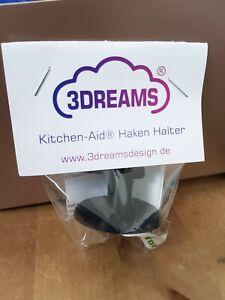 1x Haken Halter passend für Kitchen Aid ® in schwarz Zubehör Knethaken