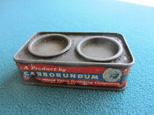 Vintage CARBORUNDUM TIM GRINDING PASTE. Fine & Coarse.